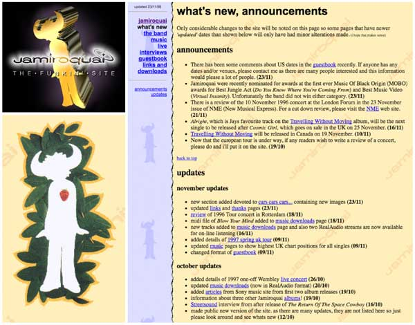 The Funkin Site many many years ago